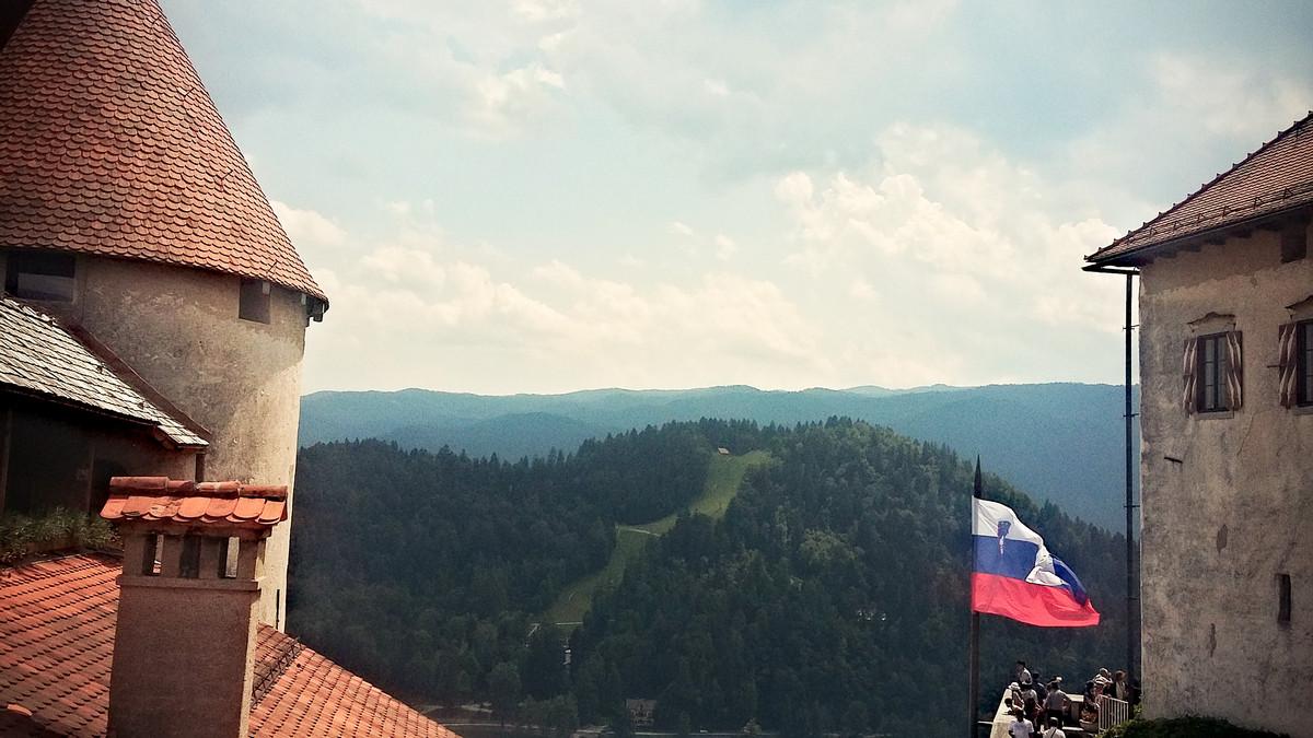 widok na Straza Hill w okolicach Bledu w Słowenii
